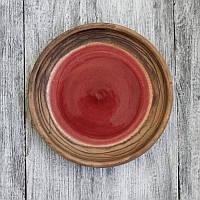 Тарелка Бордовая гуашь