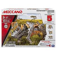 Конструктор металлический Серенгети Сафари, Meccano, 5 животных