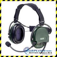 Наушники с гарнитурой MSA Sordin Supreme Mil CC Green Nexus Neckband ( с задним держателем).
