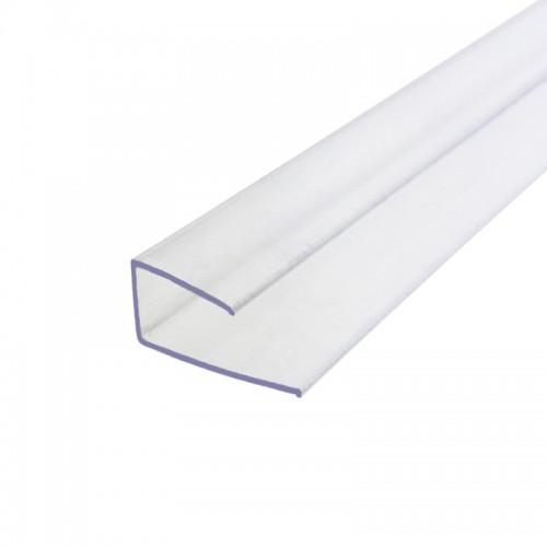 Профиль торцевой Carboglass 25 мм прозрачный