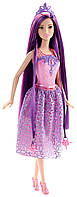Кукла Барби серия Принцесса с Сказочно - длинными волосами, Barbie Endless Hair Kingdom Princess, Purple