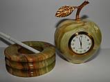 Часы - яблоко из Оникса, фото 2
