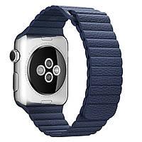 Apple Leather Loop for Watch 42mm Midnight Blue Medium (MLHL2)