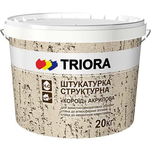 Структурна штукатурка Баранчик (зерно 1-1,5 мм) Triora, 20 кг
