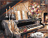 Картины по номерам 40×50 см. Музыкальный вечер у камина Художник Гибсон Джуди