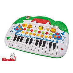 Интерактивное пианино с животными simba 4018188