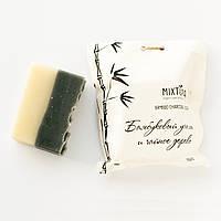 """Мыло натуральное """"Бамбуковый уголь и чайное дерево"""", 110г, Mixtura, фото 1"""