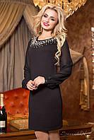 Женское коктейльное платье с жемчугом + большой размер