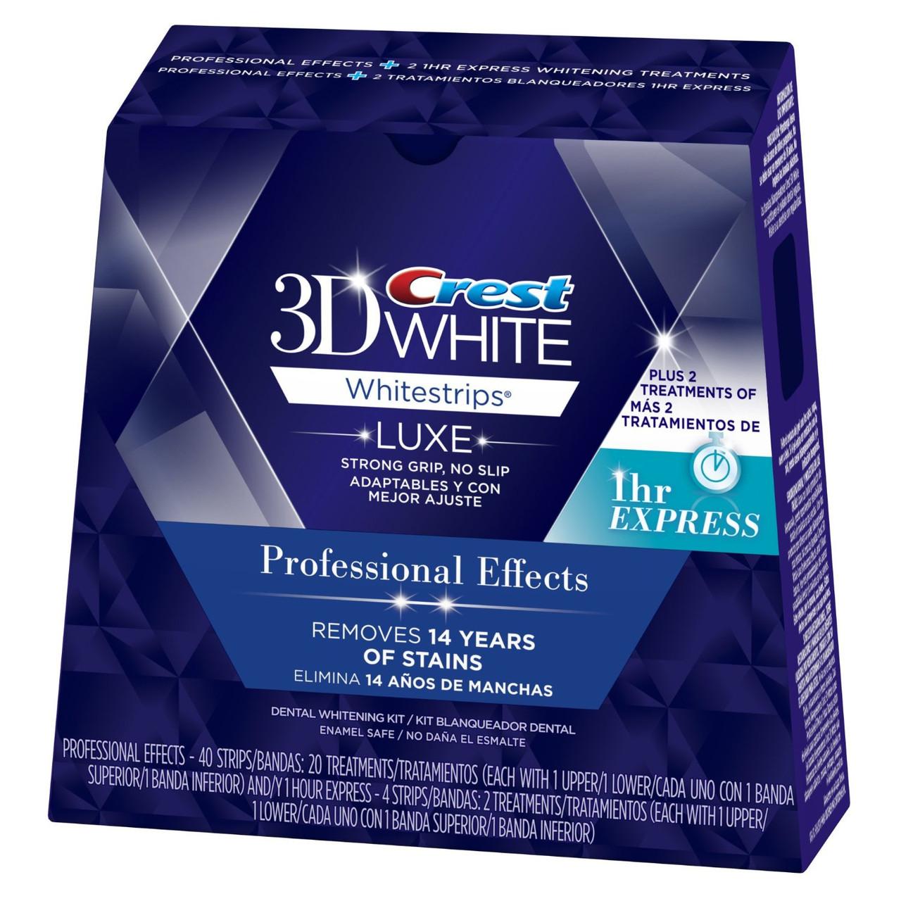 Crest 3D White Whitestrips Professional Effects - Отбеливающие полоски для зубов (40 полосок)