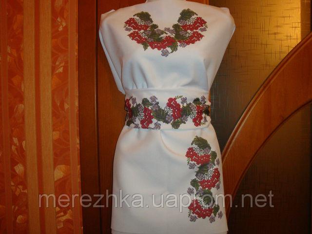 Платье под вышивку бисером