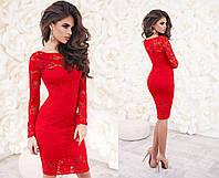 Платье  гипюровое в расцветках, фото 1