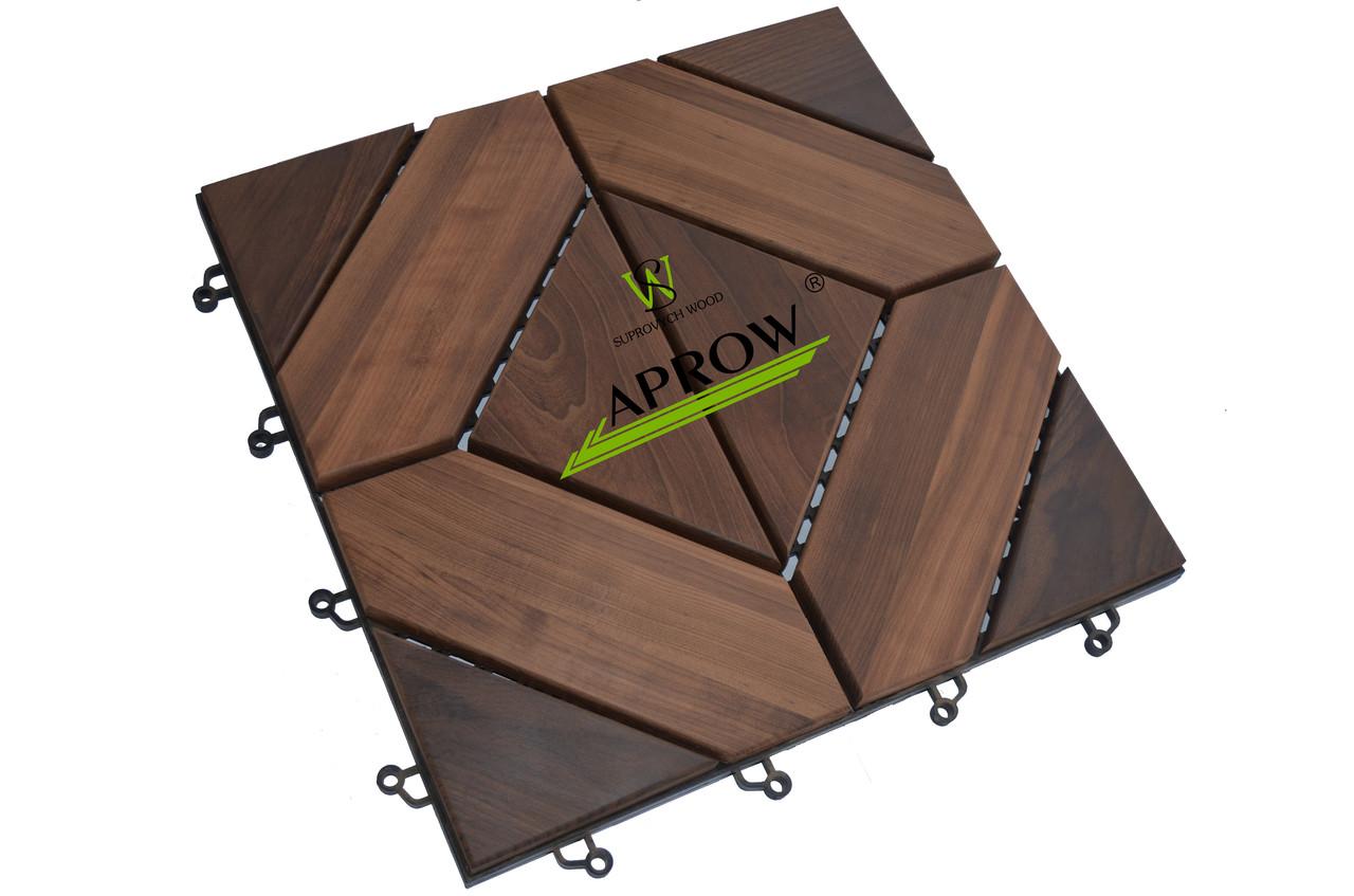 Деревянный модуль из термодревесины (садовый паркет, модульный декинг)