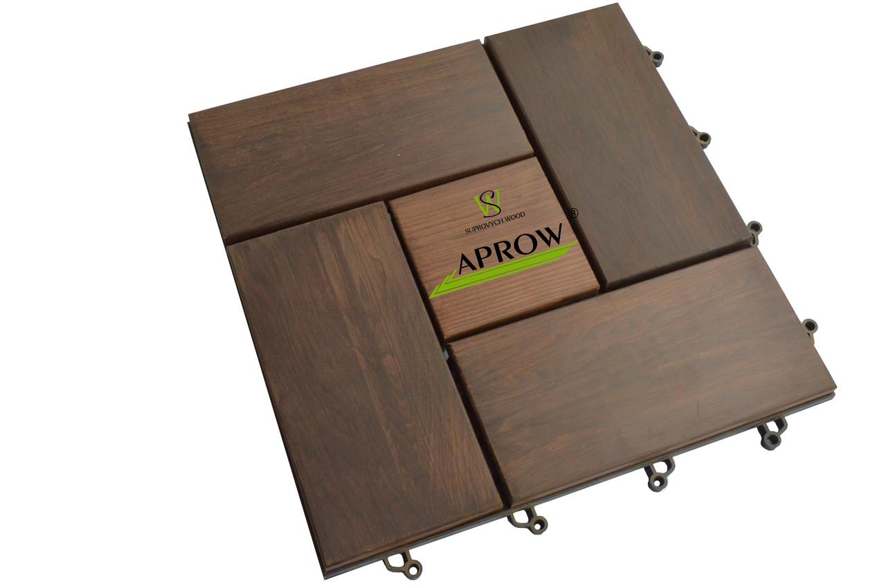 Дерев'яний модуль з термодеревини (садовий паркет, модульний декінг)