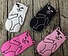 Дерзкие силиконовые чехлы для iPhone 5С - Кот с факом Все цвета