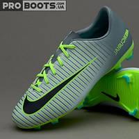 Детские футбольные бутсы Nike Mercurial Vapor XI FG Junior Wolf Grey