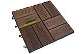 Дерев'яний модуль з термодеревини (садовий паркет, модульний декінг), фото 2