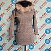 Кофта с меховым капюшоном для девочки подростковая Baby. ИТАЛИЯ.