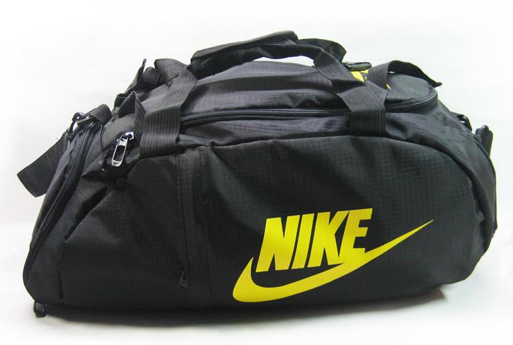 Сумка-рюкзак Nike Total 90 Slim, Найк чёрная с жёлтым ( код: IBS070B )