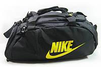 Сумка-рюкзак Nike Total 90 Slim, Найк чёрная с жёлтым ( код: IBS070B ), фото 1