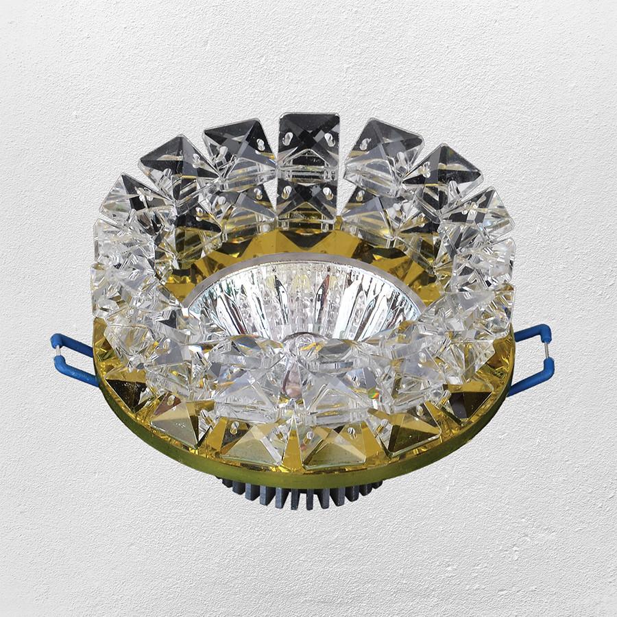 Точечный врезной светильник  16- 153 зотоло