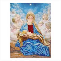 """Схема для вышивки бисером """"Икона """"Мадонна с Иисусом и ангелами"""""""