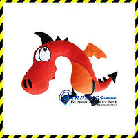 Дизайнерская дорожная Подушка-подголовник Красный дракон.