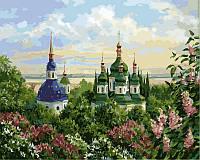 Картины по номерам 40×50 см. Выдубицкий монастырь в Киеве, фото 1
