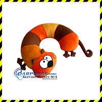 Дизайнерская дорожная Подушка-подголовник Рыжий кот.