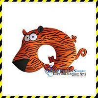 Дизайнерская дорожная Подушка-подголовник Тигр.