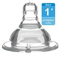 Соска для бутылок с широким горлышком – поток 1 медленный (возраст 0m+) BabyOno 1204