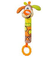 "Игрушка-пищалка с прорезывателем ""Собака"" (возраст 6m+) BabyOno 1354"