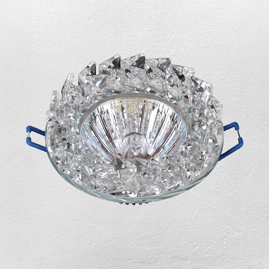 Точечный врезной светильник (модель 16- 186 зеркальный)