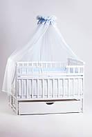 Кровать детская Детский сон с шухлядой, белая, фото 1