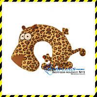 Дизайнерская дорожная Подушка-подголовник Леопард.