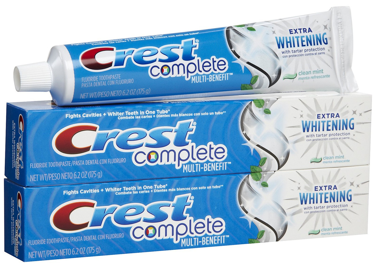 Crest Complete Multi-Benefit Extra Whitening Tartar Protection Clean Mint - Отбеливающая зубная паста, 175 г