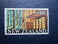 Марка Новая Зеландия 1968 флора лес заготовка древесины