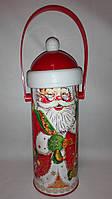 Новогодняя упаковка картонный тубус дед Мороз