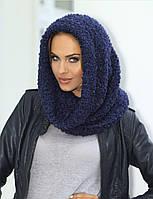 Красивый модный шарф-снуд от Kamea -  Francesca. 56-58, синий