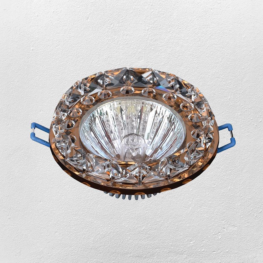 Точечный врезной светильник (модель 16- 222 коричневый)
