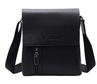 Черная мужская стильная удобная модная кожаная сумка планшет Korsgroo(кенгуру) Новинка
