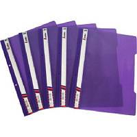 Скоросшиватель, пластиковый, прозрачный верх, А4 фиолетовий, KS320-1