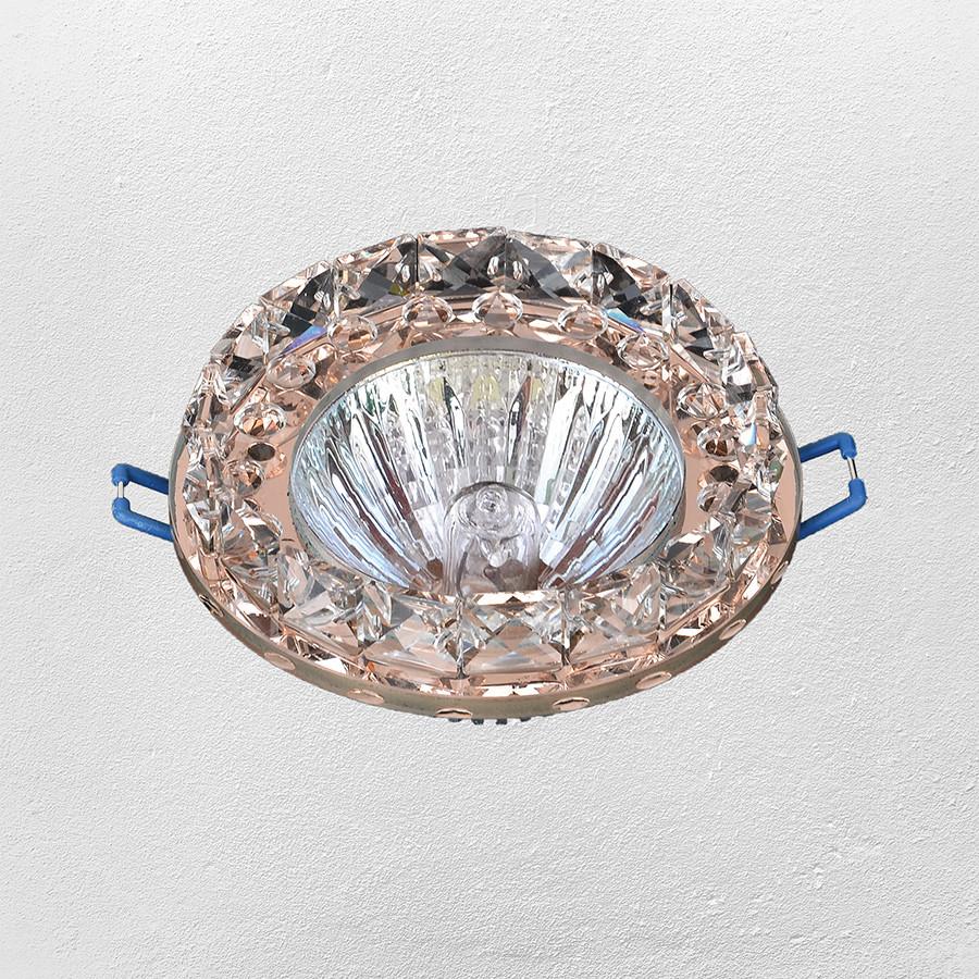 Точечный врезной светильник (модель 16- 229 светло -коричневый