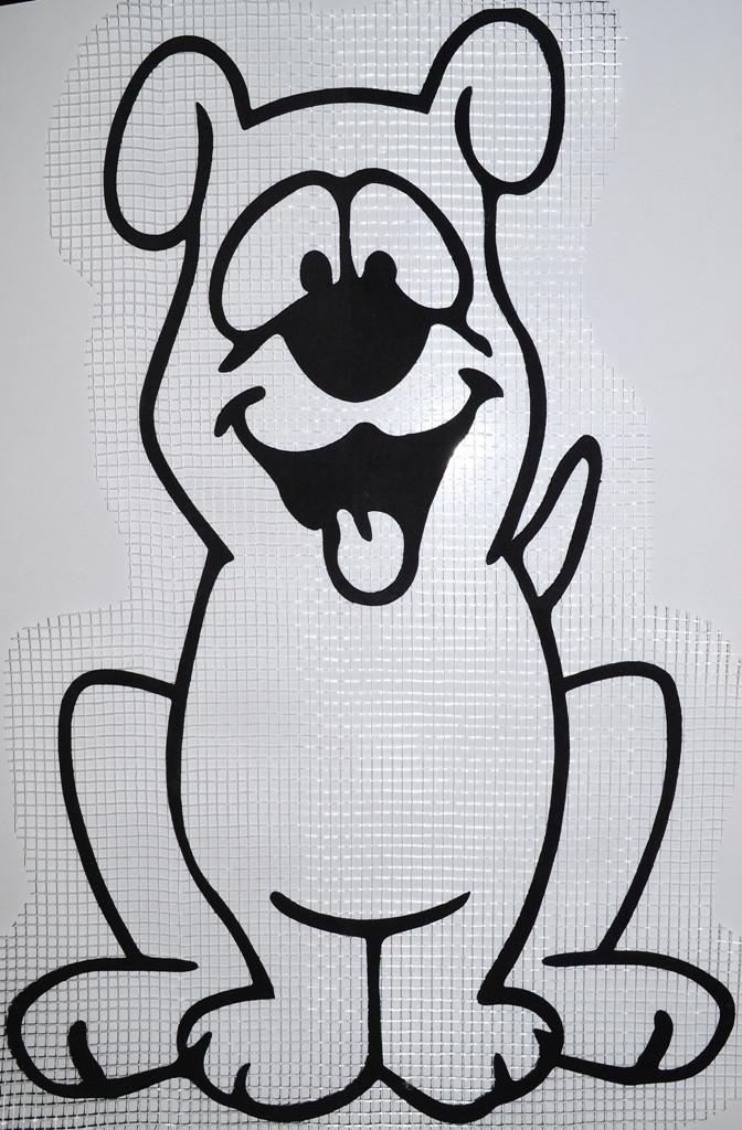 Пёс А2 - декор для жидких обоев