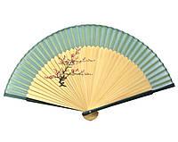 Веер для женщин из бамбука и шелка
