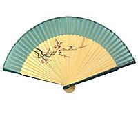 Веер красивый бамбуковый