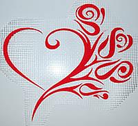 Сердце-цветы А3 - декор для жидких обоев