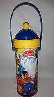 Новогодняя упаковка картонный тубус дед Мороз Украина 250-270 гр