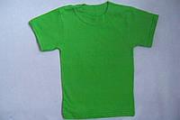 Футболка детская  хлопковая  трикотажная зеленая