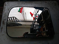 Зеркальный элемент (зеркало, вставка) Газель,Соболь, Рута, Бизнес, Валдай верхнее с подогревом нового образца