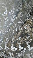 Фатин белый с вышивкой №21711